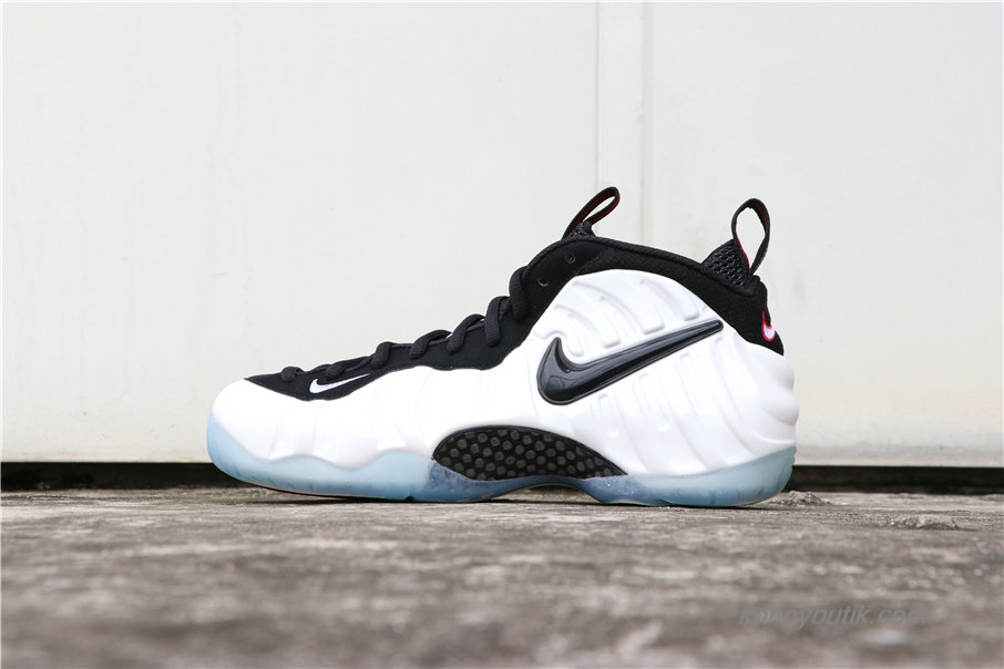 Nike Air Foamposite One Pearl Herre Sko Hvid / Sort (624041-100)