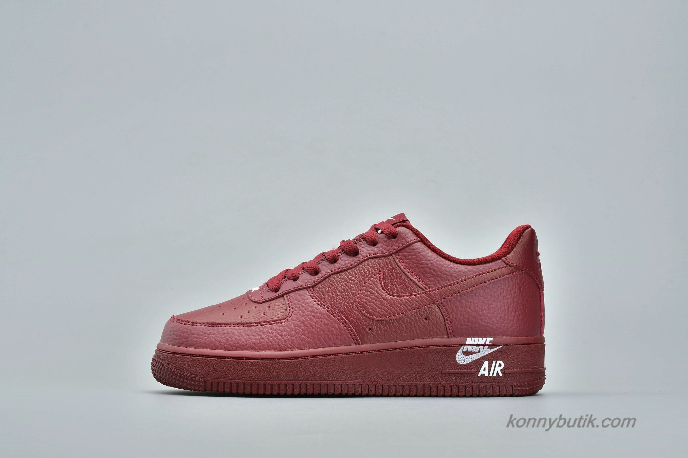 Nike Air Force 1 Low 07 LTHR Herre Sko Mørkerød (AJ7280-600)