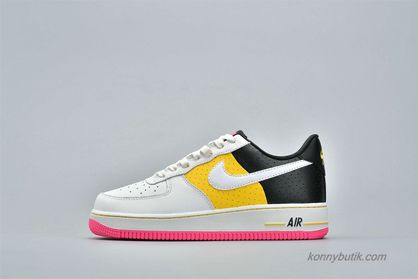 Nike Air Force 1 Low 07 SE MOTO Dame Sko Hvid / Gul / Sort (AT2583-100)