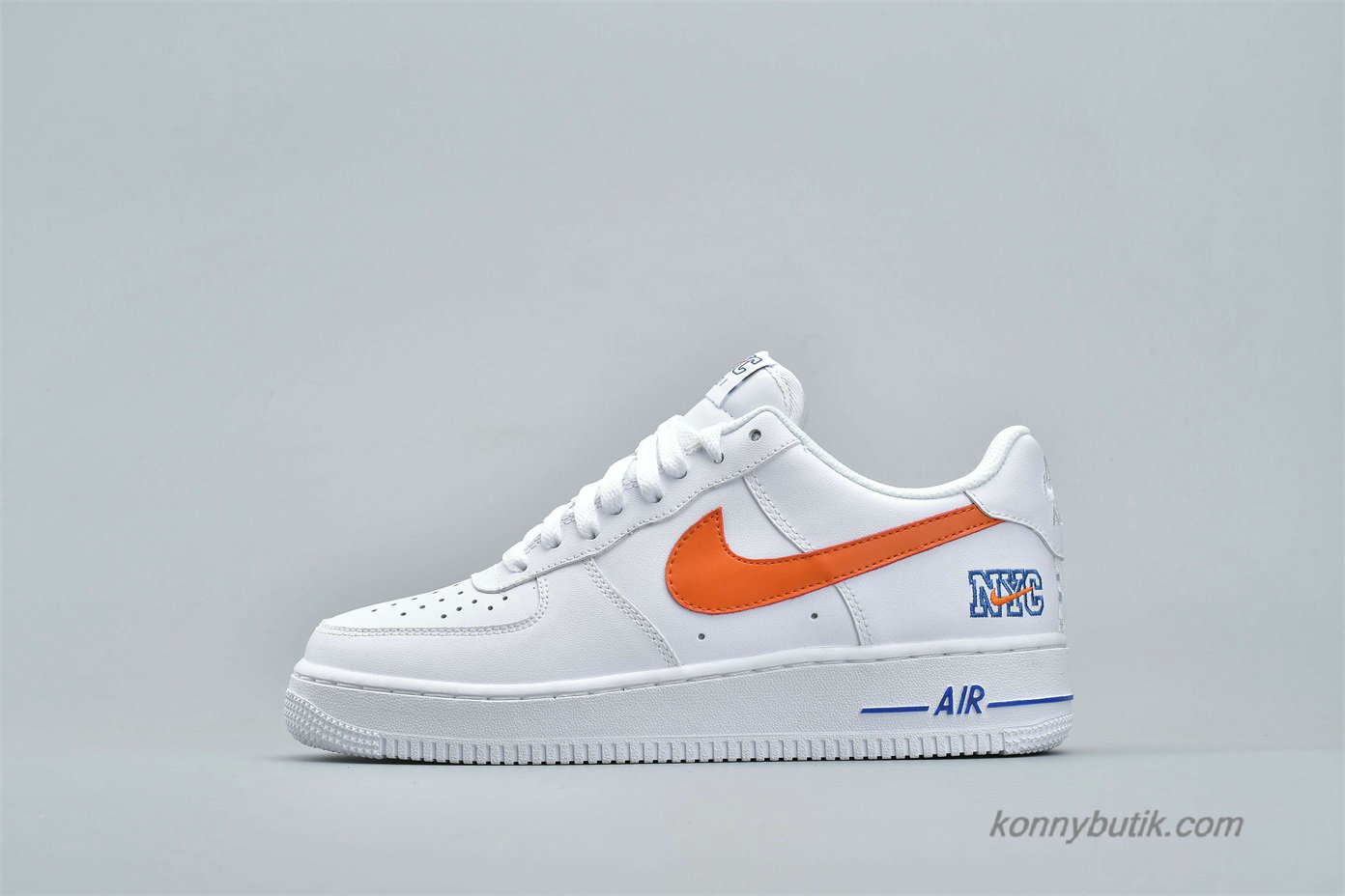 Nike Air Force 1 Low NYC HS Herre Sko Hvid / Blå / Orange (722241-844)
