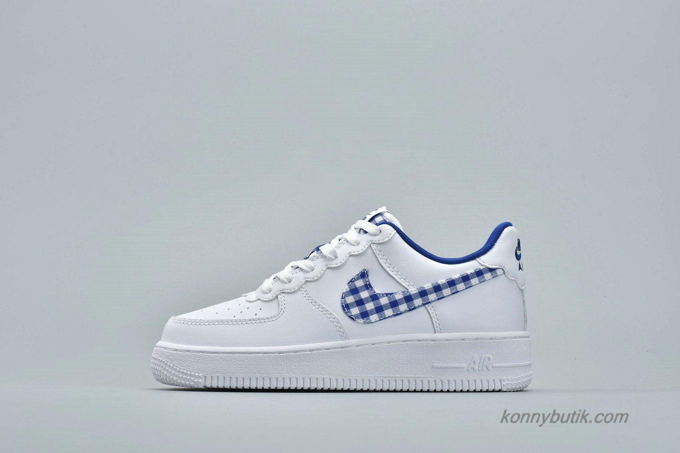 Nike Air Force 1 Low QS Unisex Sko Hvid / Blå (AV6232-100)