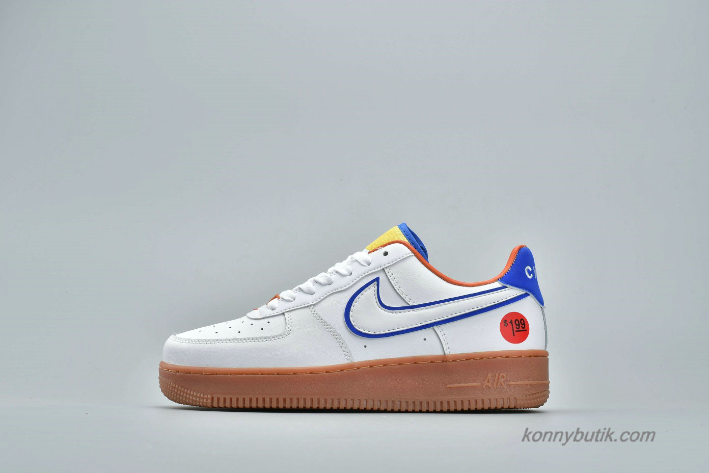 Nike Air Force 1 Low UPSTEP WONDER BREAD Unisex Sko Hvid / Blå (653774-660)