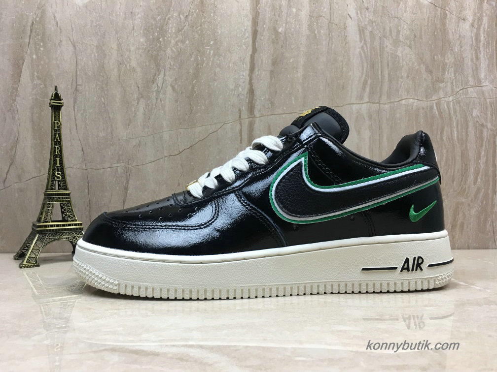 Nike Air Force 1 Low Herre Sko Sort / Grøn / Off-White (AA4061-200)