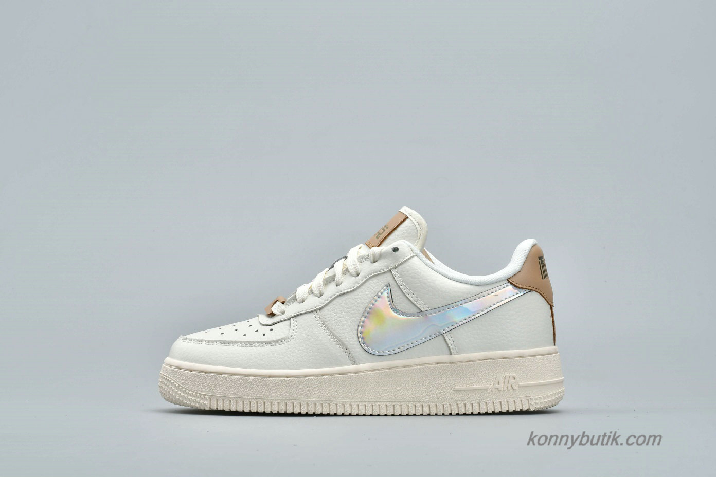 Nike Air Force 1 Low Unisex Sko Off-White / Sølv / Brun (AV2038-100)
