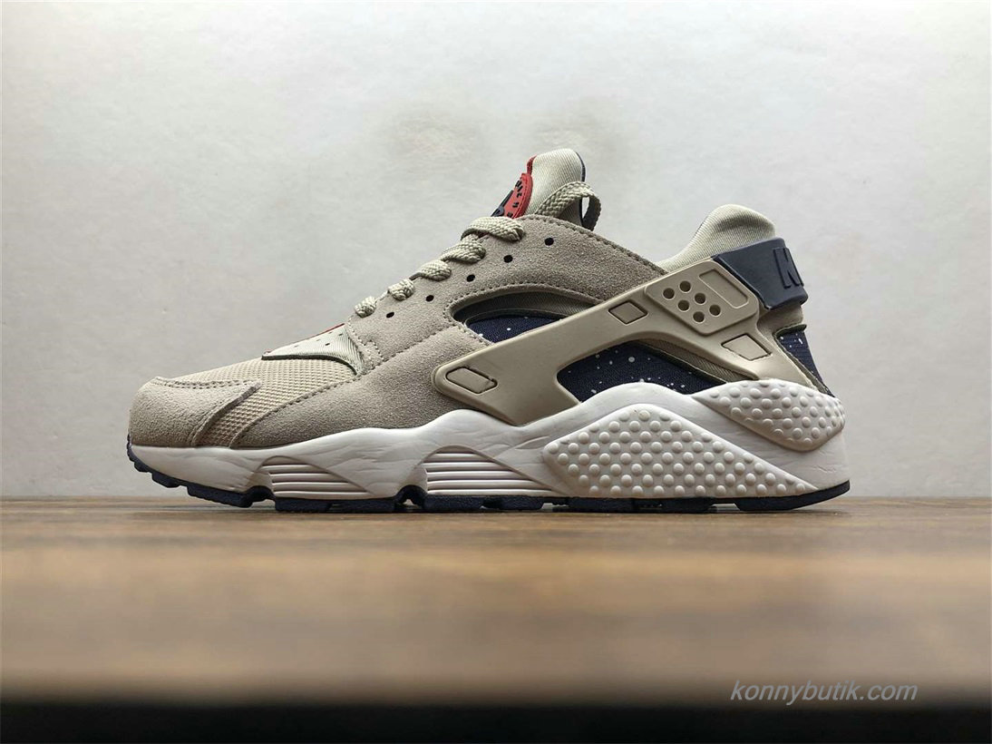 Nike Air Huarache Run Premium Herre Sko Grå / Sort (AQ0553-200)
