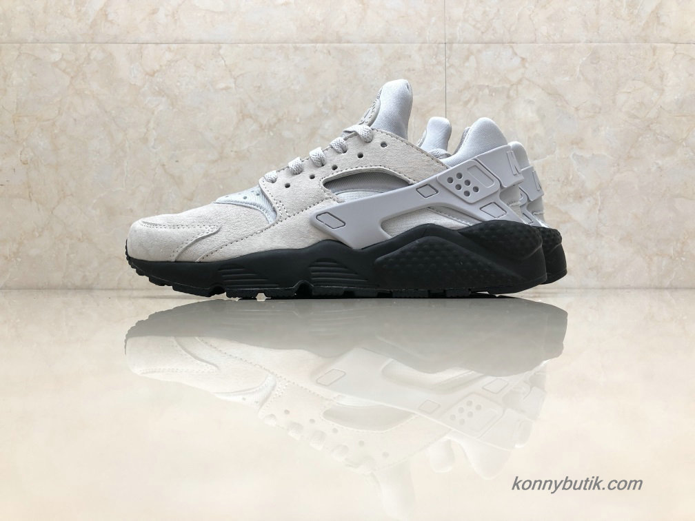 Nike Air Huarache Run Premium Unisex Sko Askegrå / Sort (852628-003)