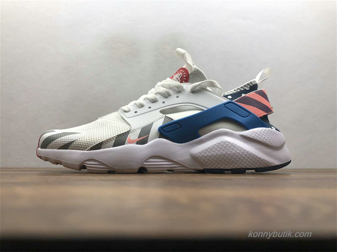 Nike Air Huarache Run Ultra Parra Unisex Sko Off-White / Blå / Grå (847568-100)