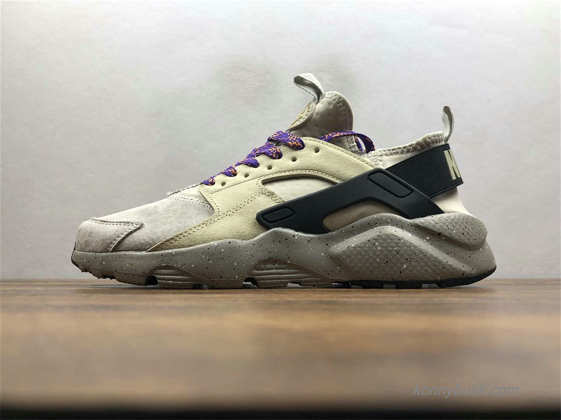 Nike Air Huarache Run Ultra Unisex Sko Grå / Khaki / Sort (829669-334)