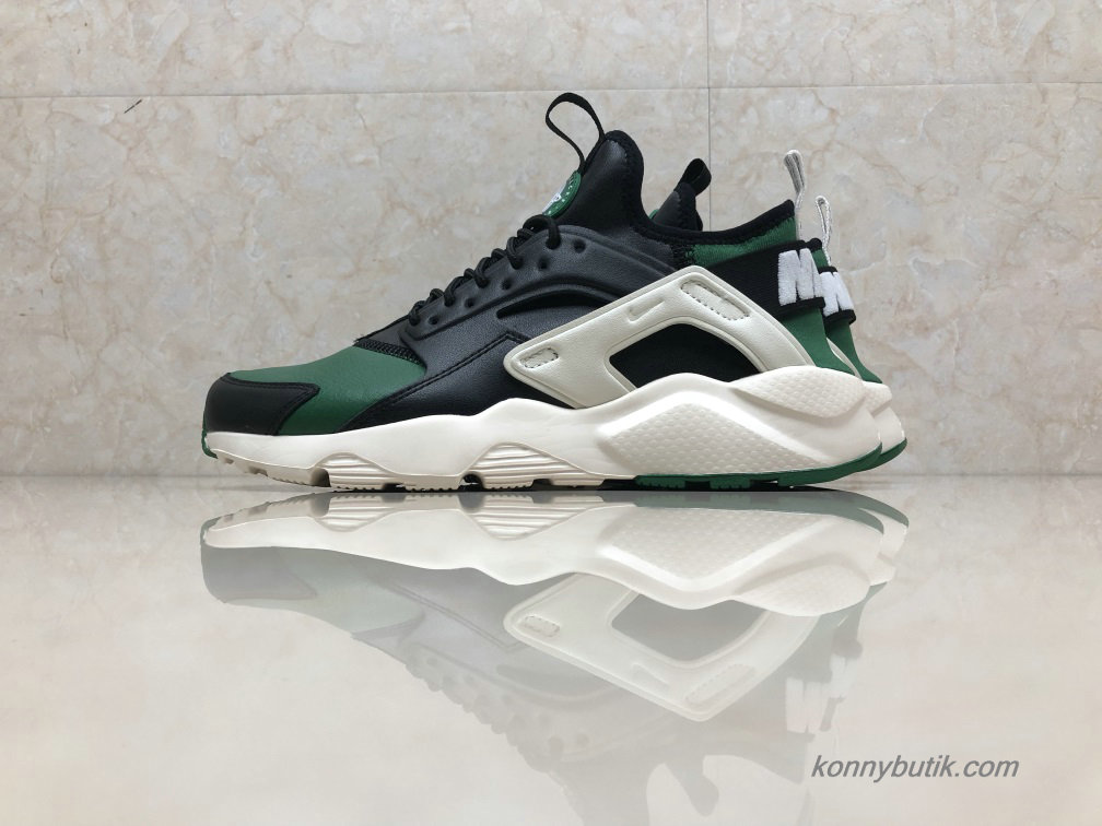 Nike Air Huarache Run Ultra Læder Unisex Sko Grøn / Sort (875842-003)