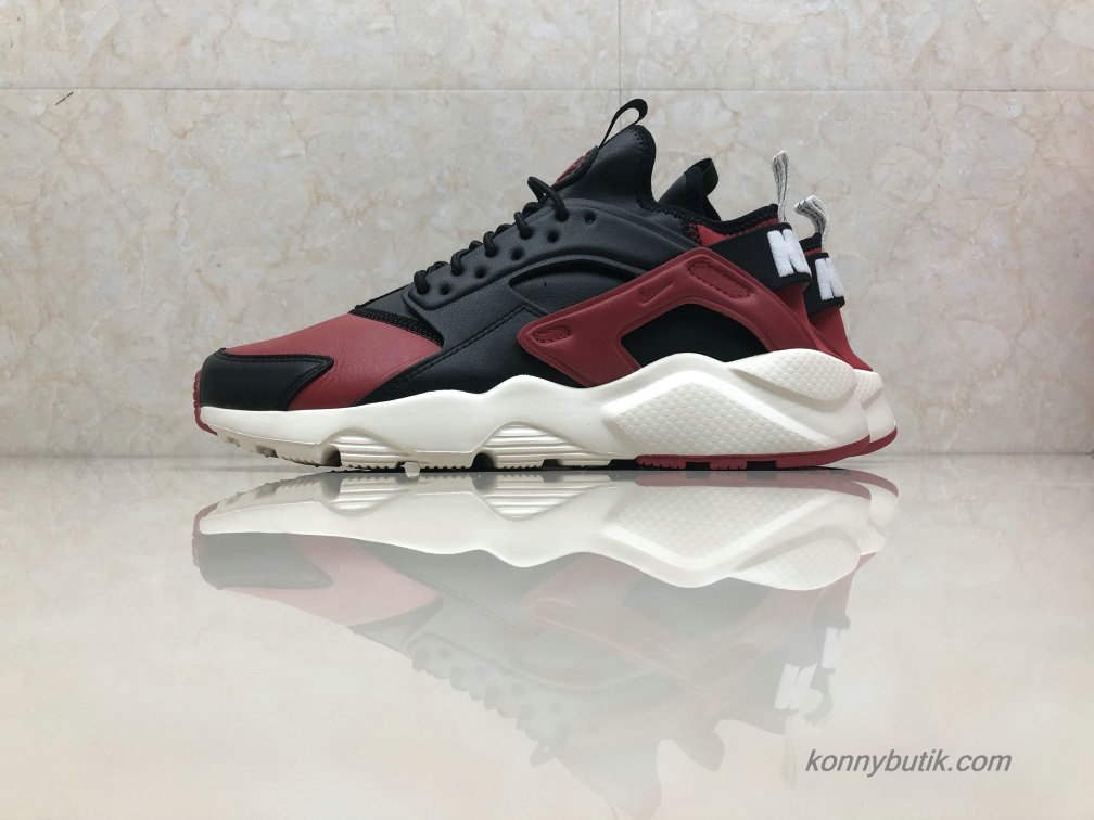 Nike Air Huarache Run Ultra Læder Unisex Sko Bordeaux / Sort (875842-006)