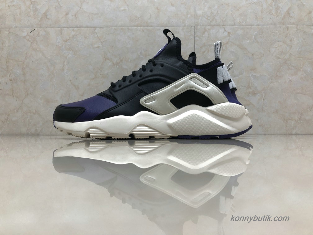 Nike Air Huarache Run Ultra Læder Unisex Sko Marine blå / Sort (875842-302)
