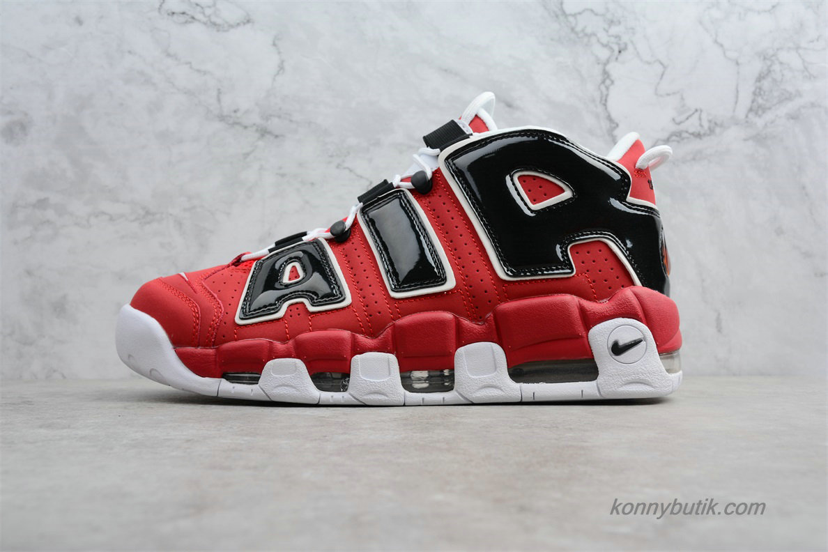 2019 Nike Air More Uptempo OG Unisex Sko Rød / Sort (415082-600)
