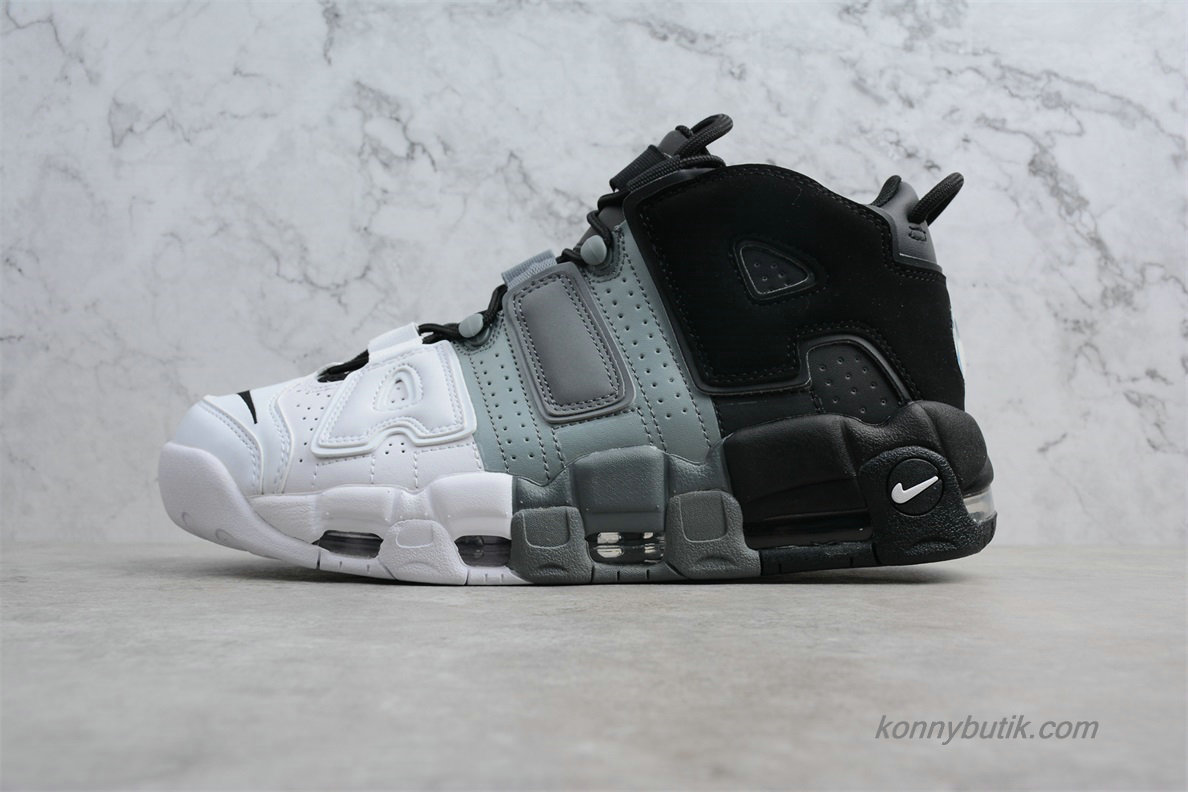 2019 Nike Air More Uptempo OG Unisex Sko Hvid / Grå / Sort (921948-002)