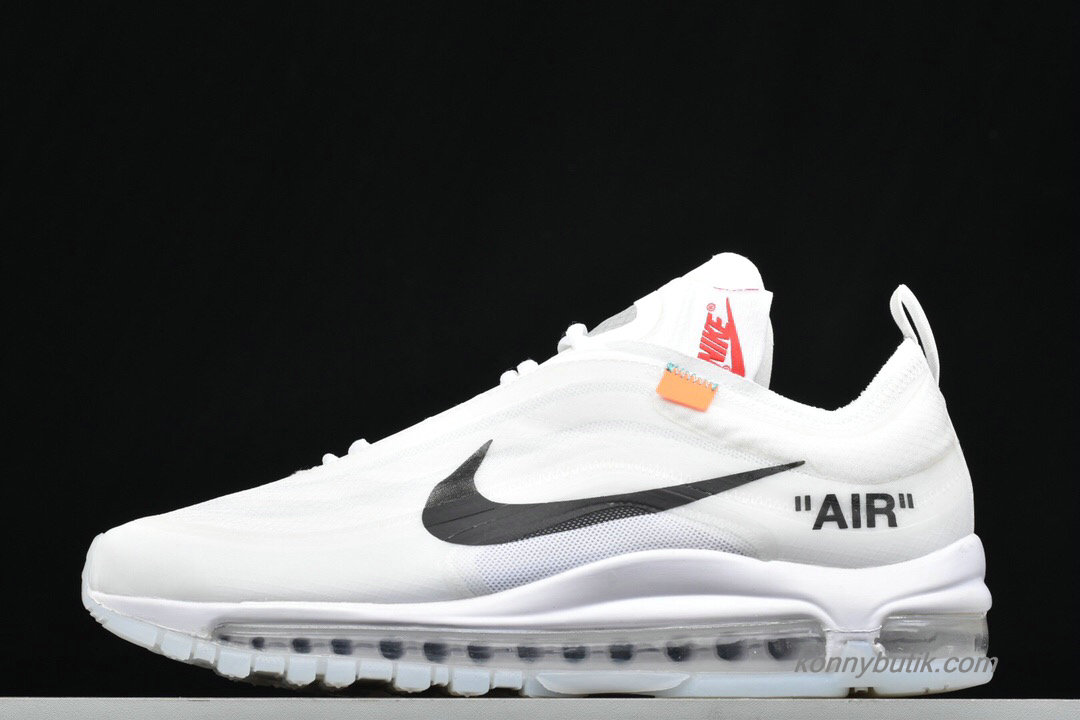 Off-White Nike Air Max 97 The Ten Unisex Sko Hvid / Sort (AJ4585-100)