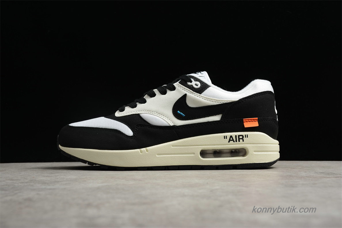 Off-White Nike Air Max 1 Unisex Sko Hvid / Sort (AJ9986-109)