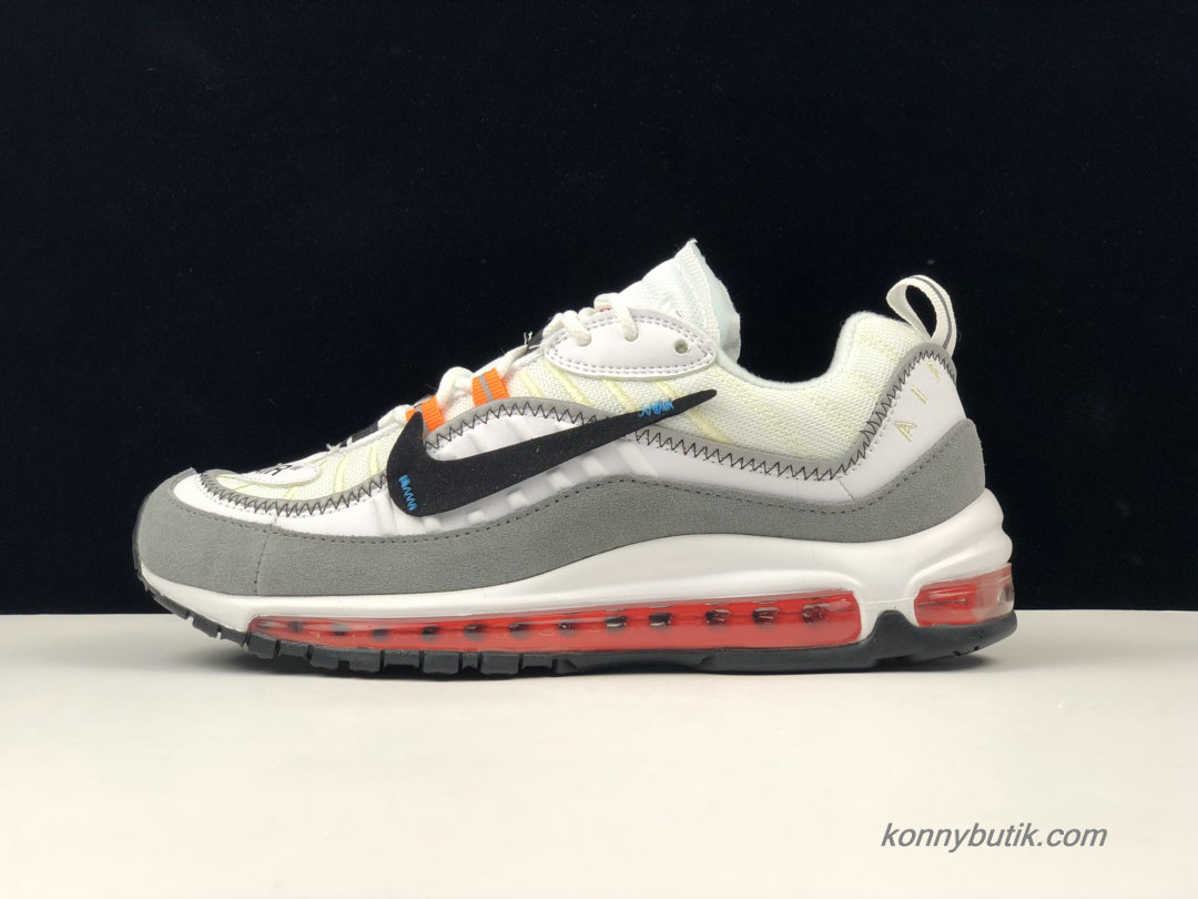 Off-White x Nike Air Max 98 Unisex Sko Off-White / Grå / Sort (AJ6407-016)