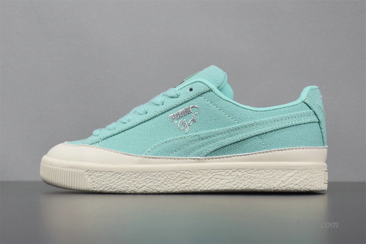 2019 Puma Clyde x Diamond Dame Sko Grøn / Off-White (365651-01)