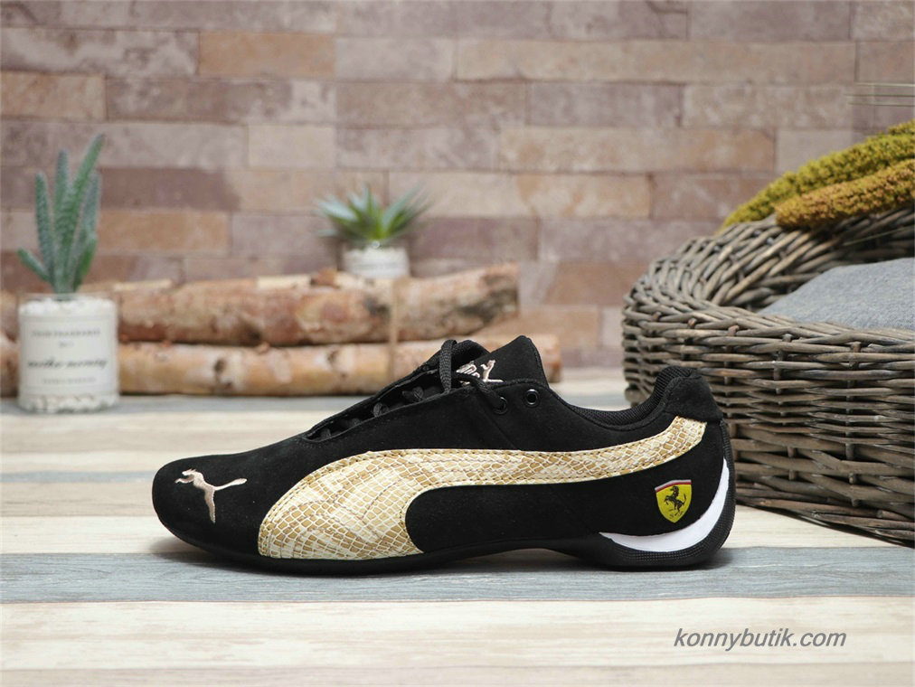 Puma Future Cat SF Suede Herre Sko Sort / Guld Python