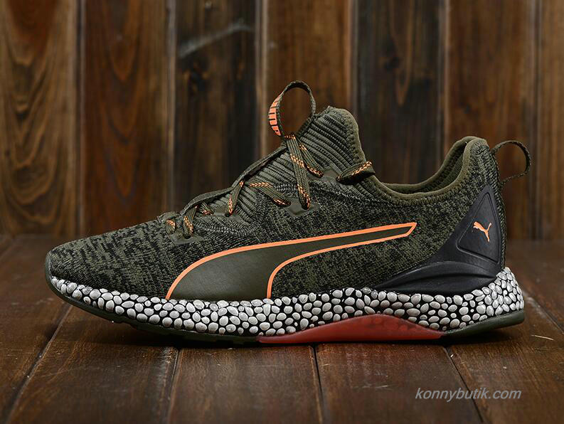 Puma Hybrid Runner Unrest Herre Sko Oliven / Sort / Orange