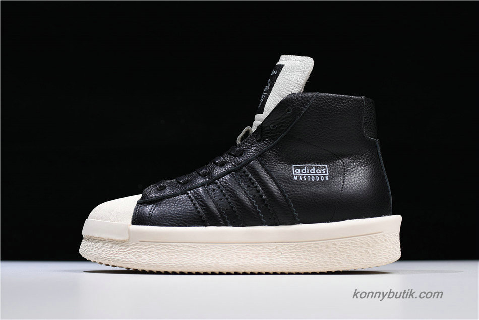 Adidas Mastodon Pro Model Ro Pearl High Unisex Sko Sort / Off-White