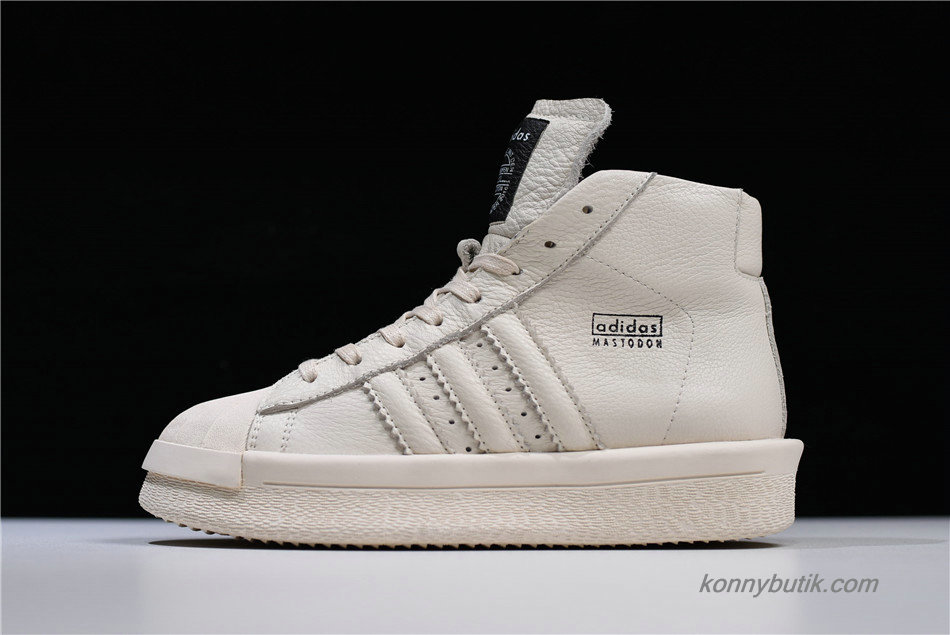 Adidas Mastodon Pro Model Ro Pearl High Unisex Sko Off-White / Sort