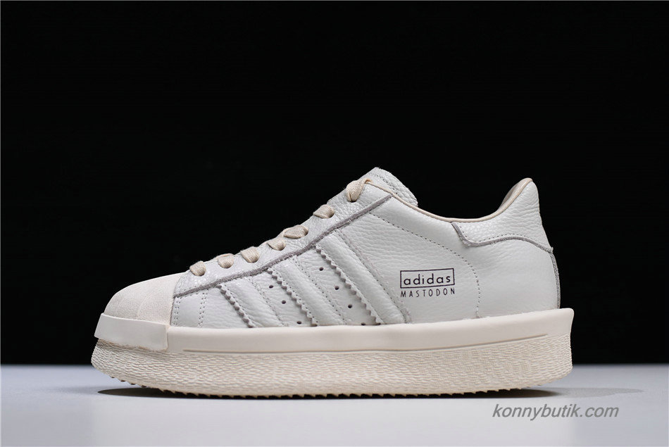 Adidas Mastodon Pro Model Ro Pearl High Unisex Sko Off-White / Grå