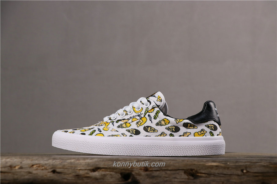 Adidas 3MC x Truth Never Told Canvas Unisex Hvid / Gul / Sort Sko (F35088)