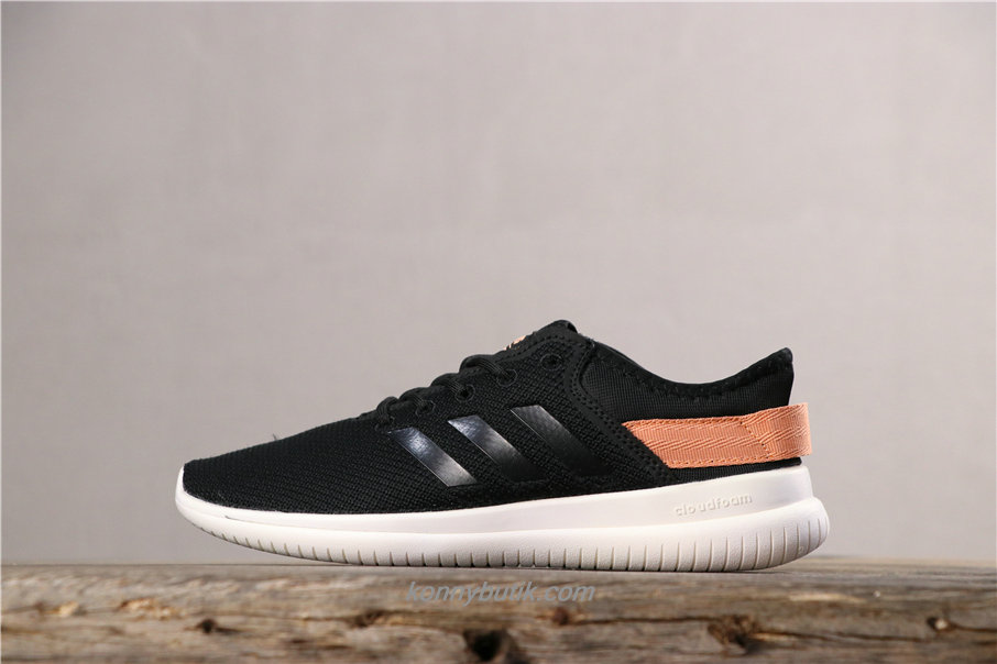 Adidas Cloudfoam QT Flex Unisex Sort / Orange Sko (AQ1622)