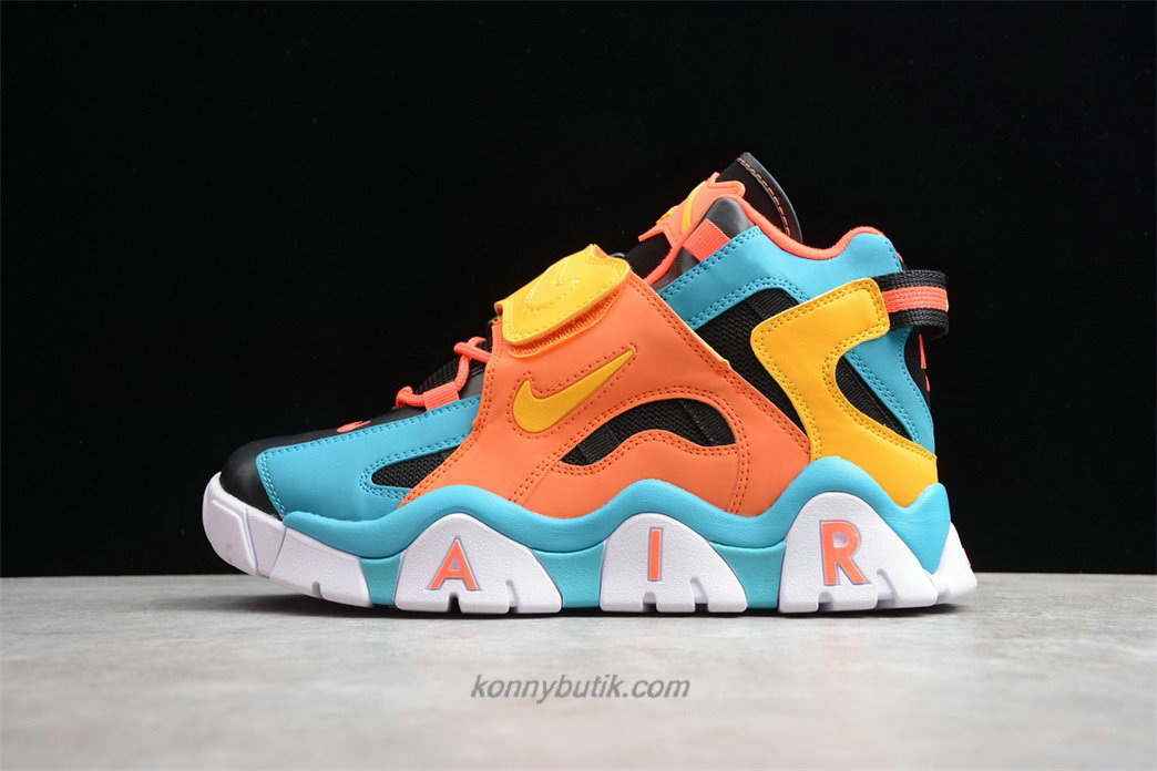 Nike Air Barrage Mid QS Unisex Sort / Blå / Orange / Gul Sko (CD9329 300)