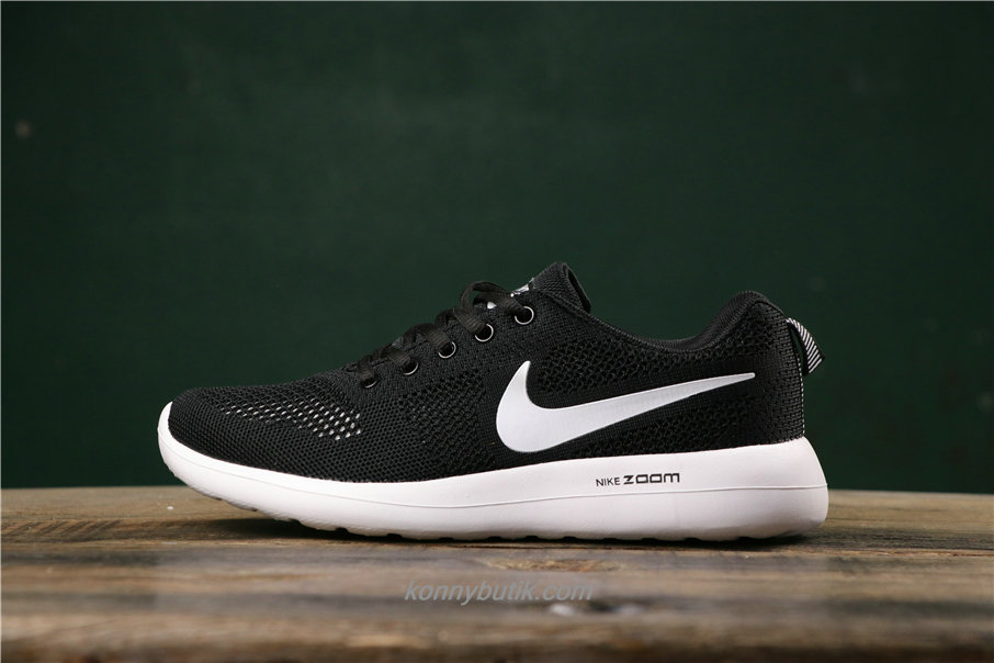 Nike Air Fashion Hollow Unisex Sort / Hvid Sko (789651001)