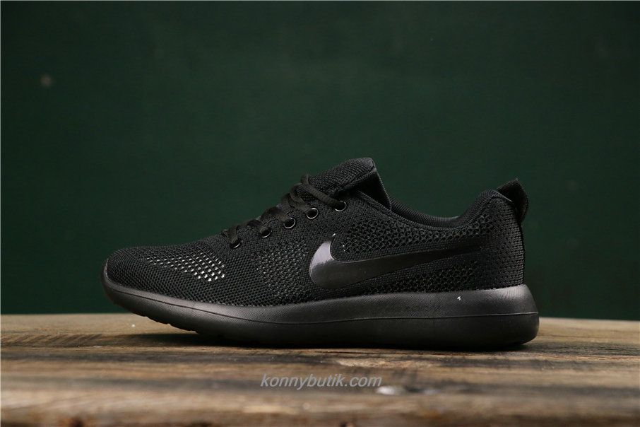 Nike Air Fashion Hollow Unisex Sort Sko (789651006)