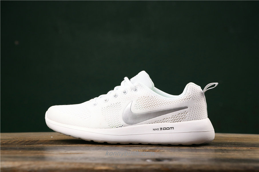 Nike Air Fashion Hollow Unisex Hvid / Sølv Sko (789651013)