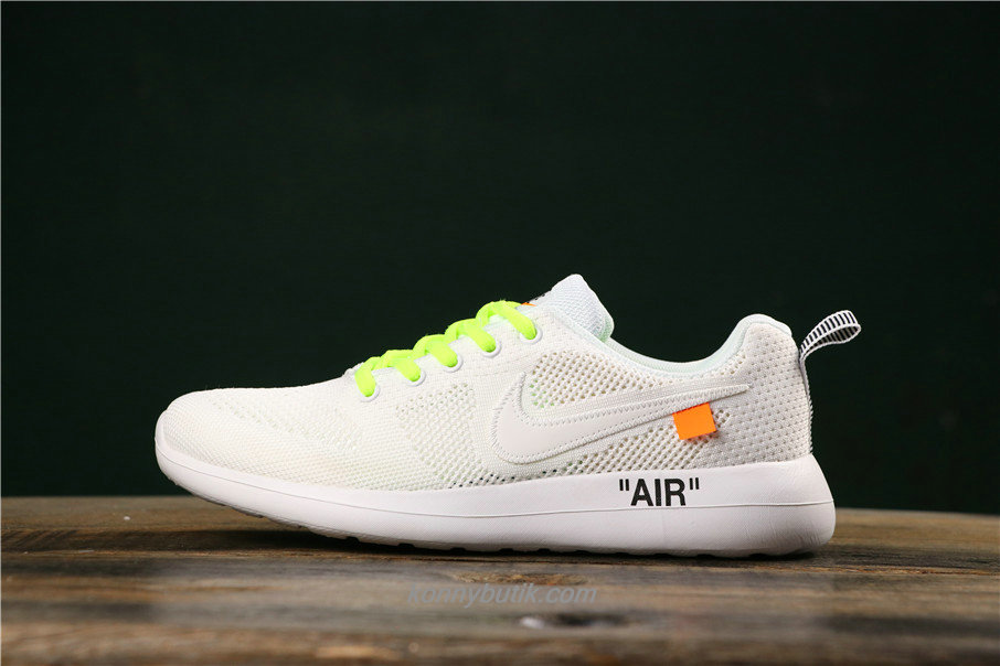 Off-White x Nike Air Fashion Hollow Unisex Hvid / Grøn Sko (789651016)