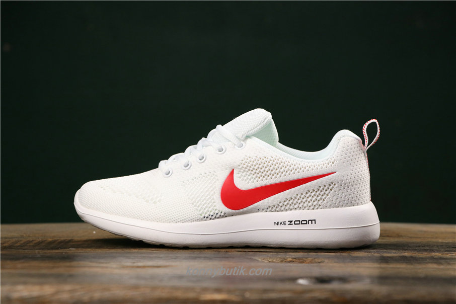 Nike Air Fashion Hollow Unisex Hvid / Rød Sko (789651017)