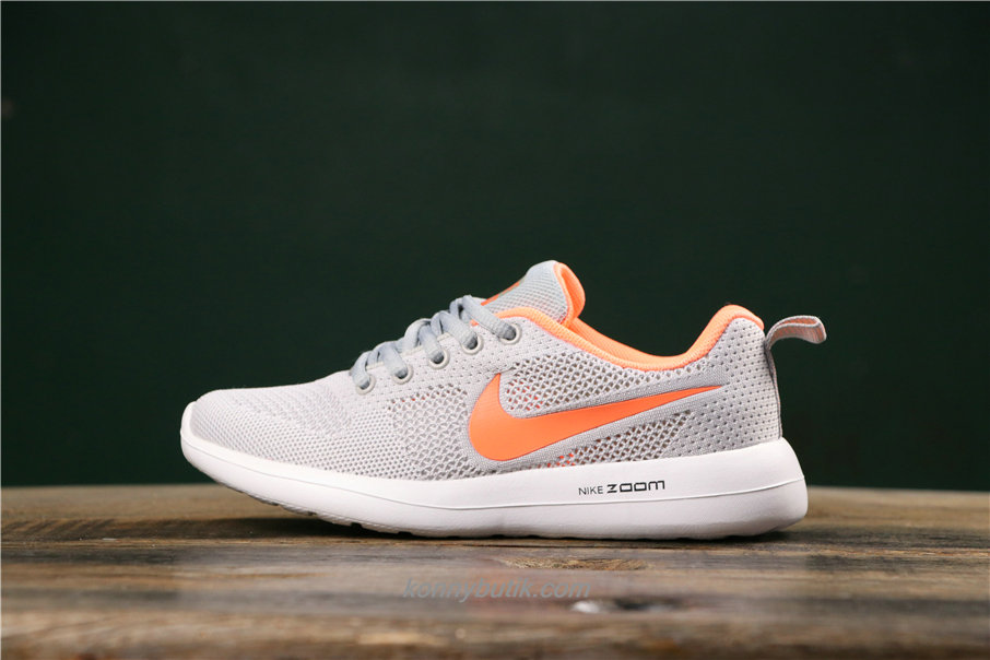 Nike Air Fashion Hollow Dame Lysegrå / Orange Sko (789651003)