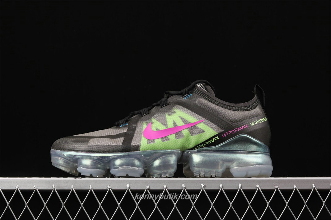Nike Air VaporMax 2019 Herre Sort / Grå / Grøn Sko (AT6810 001)