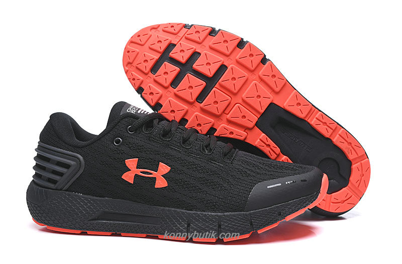 Under Armour Charged Rogue Herre Sort / Orange Sko