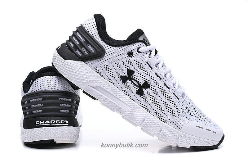 Under Armour Charged Rogue Herre Hvid / Sort Sko