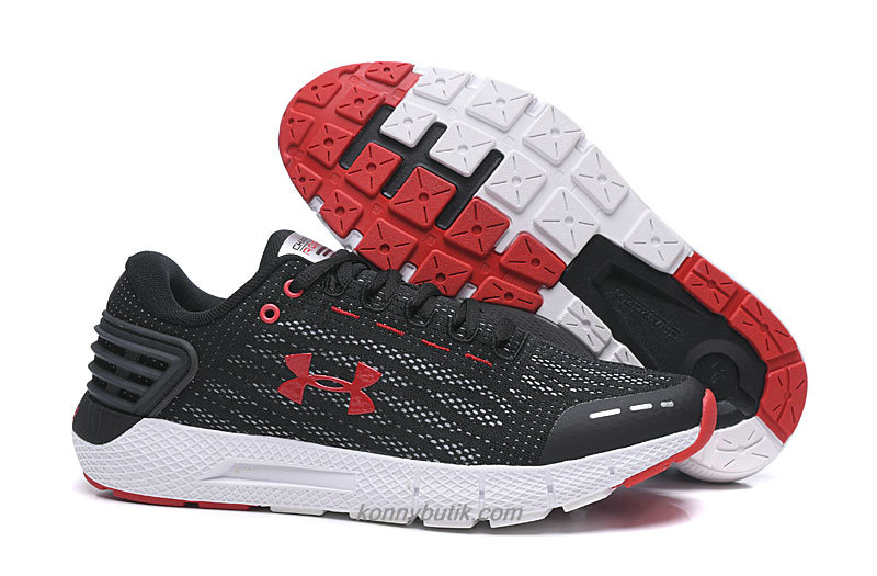 Under Armour Charged Rogue Herre Sort / Rød / Hvid Sko