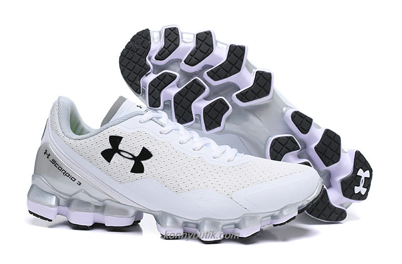 Under Armour Scorpio 3 Herre Hvid / Sort Sko