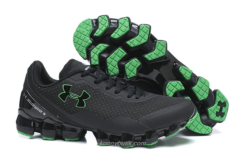 Under Armour Scorpio 3 Herre Sort / Grøn Sko
