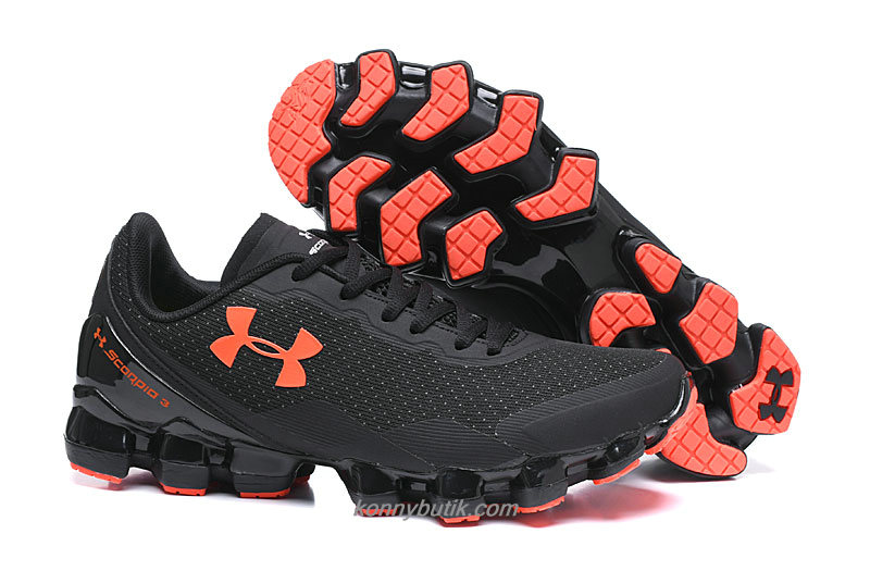 Under Armour Scorpio 3 Herre Sort / Orange Sko