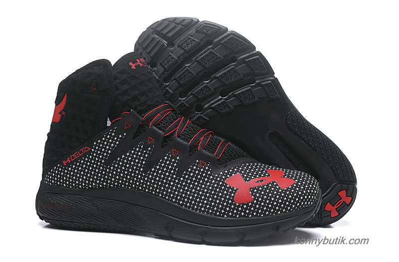 2019 Under Armour Highlight Delta Herre Sko Sort / Hvid / Rød