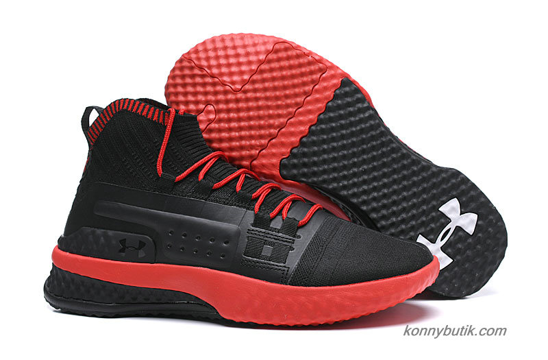 Under Armour Project Rock 1 Herre Sko Sort / Rød
